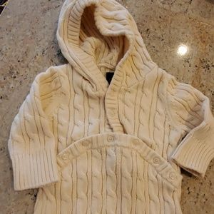 Gap Ivory Cable Knit Hooded Sleep Sack or Bunting